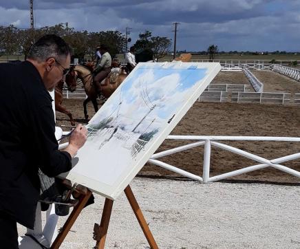 """Exposição """"Pintar Salvaterra"""" reúne obras realizadas ao vivo nas ruas da vila"""