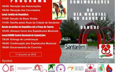 Comemorações do Dia Mundial do Dador de Sangue assinaladas pela Fepodabes em Santarém dia 17