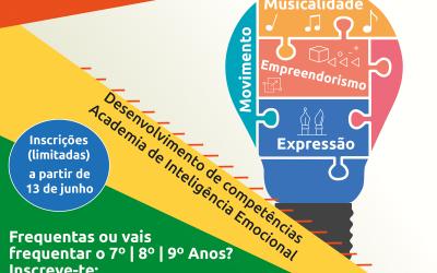 Academia de Inteligência Emocional em actividades de Verão para Jovens em Salvaterra de Magos