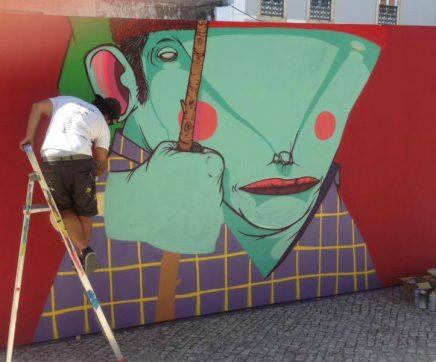 Arte urbana com intervenções de quatro artistas no centro histórico de Santarém