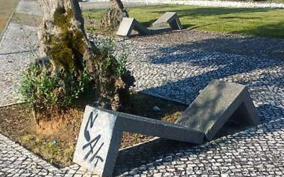 Entroncamento foi alvo de actos de vandalismo do mobiliário urbano
