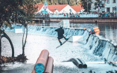 Elite mundial de wakeboard deslumbrada com Tomar