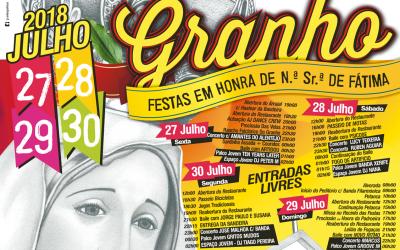 Festas em honra de Nossa Senhora de Fátima no Granho de 27 a 30 de Julho