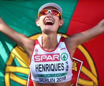 Inês Henriques campeã europeia de 50 quilómetros marcha