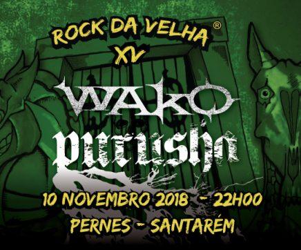 Rock da Velha volta a Pernes dia 10 de Novembro com os almeirinenses WAKO e PURUSHA