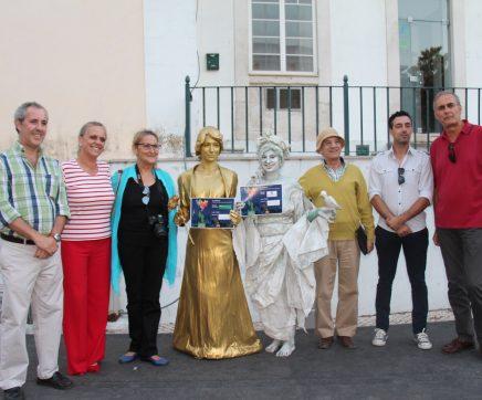 """""""Glamour"""" e """"Primavera"""" as estátuas vivas vencedoras do I Festival de Estátuas Humanas de Santarém"""