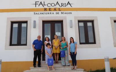 Reitoria da Universidade de Évora visita a Falcoaria Real de Salvaterra de Magos