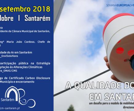 Câmara de Santarém apresenta Relatório da Monitorização da Qualidade do Ar na Cidade