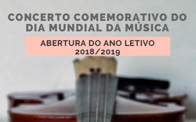 Concerto comemorativo do Dia Mundial da Música e de abertura do ano lectivo do conservatório de Santarém