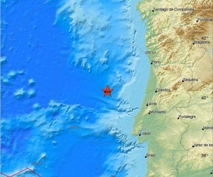 Sismo de 4,6 magnitude registado a 130 quilómetros de Peniche
