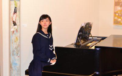 Mizuki Watanabe, jovem pianista e escritora prodígio japonesa, actuou em Santarém
