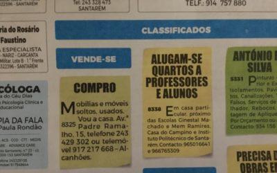 Preços do arrendamento a estudantes baixaram em Santarém, contrariando a tendência nacional