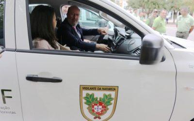 Ministro do Ambiente entregou viaturas aos vigilantes da natureza em Torres Novas