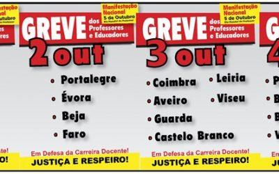 Protesto nacional de professores começa hoje em Lisboa, Setúbal e Santarém