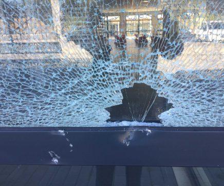 Vandalismo na Escola Básica do Bonito no Entroncamento