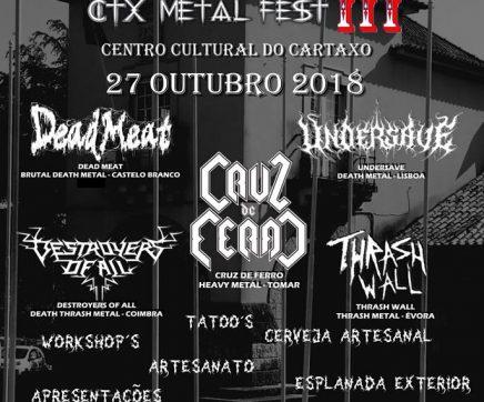 Cartaxo recebe terceiro CTX Metal Fest
