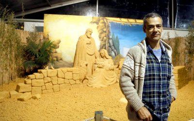 Pedro Mira vai esculpir presépio com 15 toneladas de areia