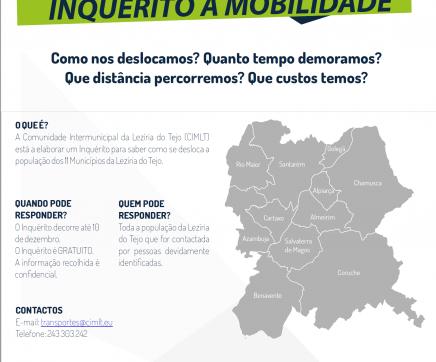 CIMLT promove inquérito à mobilidade na Lezíria do Tejo