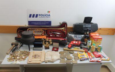 PSP recupera material furtado de lojas