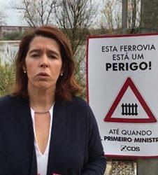 "CDS denuncia barreiras de Santarém ""presas por arames"" [C/VÍDEO]"