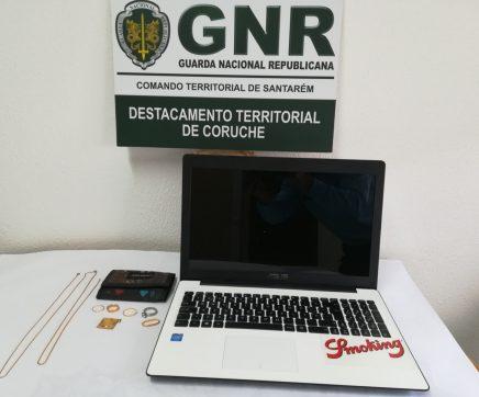 GNR recupera objectos furtados em residência