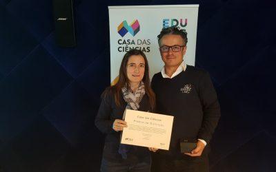 Professores da Escola Superior de Educação de Santarém galardoados com o Prémio de Distinção da Casa das Ciências 2018