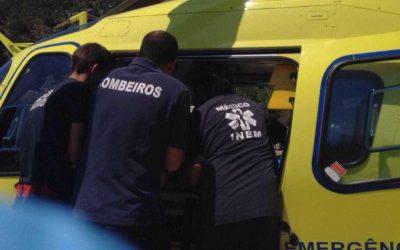 Despiste de motociclo provoca ferido grave