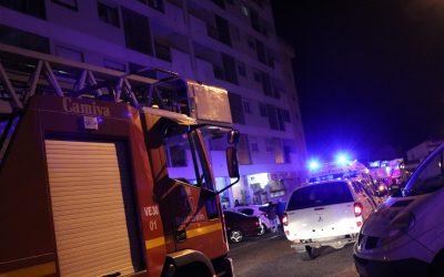 Apartamento arde em Santarém