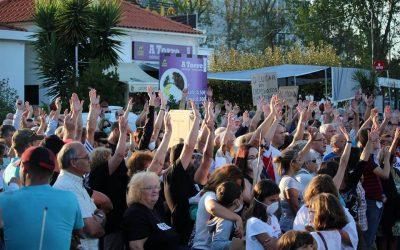 Protesto em Torres Novas por decisão que mantém fábrica poluidora em funcionamento