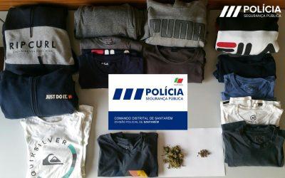 PSP apreende artigos furtados e droga em Santarém
