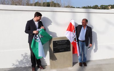 Inaugurada requalificação da Rua do Açude no Vale de Santarém