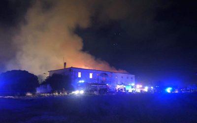 Incêndio destrói edifício da primeira escola de aviação do país