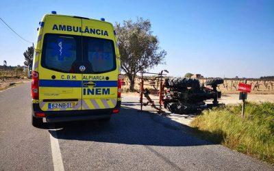 Acidente com tractor provoca um ferido grave