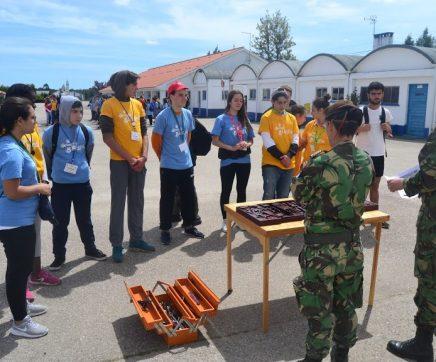 Alunos da região desenvolvem competências no Campo Militar de Santa Margarida