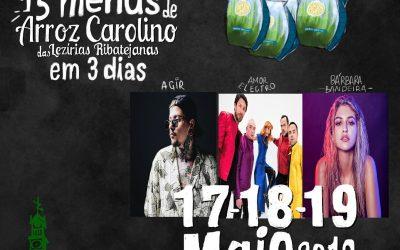 Agir, Amor Electro e Bárbara Bandeira no Festival do Arroz Carolino