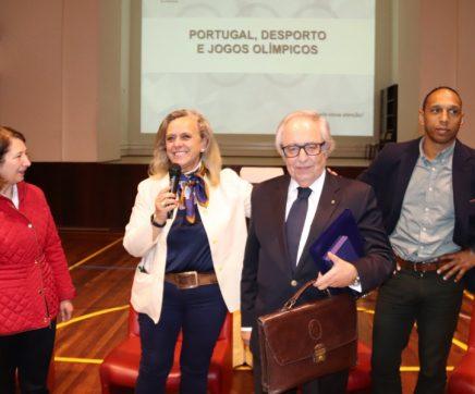 Nuno Delgado e Presidente do Comité Olímpico de Portugal no Ciclo do Desporto da Escola Sá da Bandeira