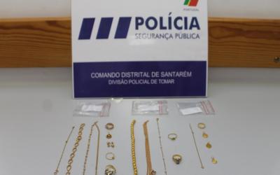 PSP recupera ouro furtado e identifica mulher de 44 anos