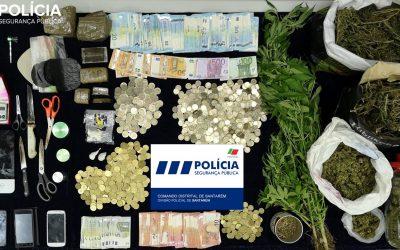 Quatro detidos por tráfico de droga e mais de 7 mil euros apreendidos em Santarém