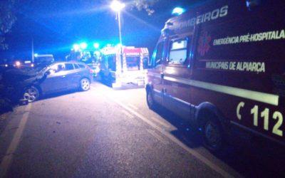 Acidente provoca dois feridos na estrada do campo em Alpiarça