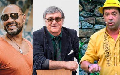 Olavo Bilac, José Cid, Augusto Canário nas Festas do Foral e do Fandango