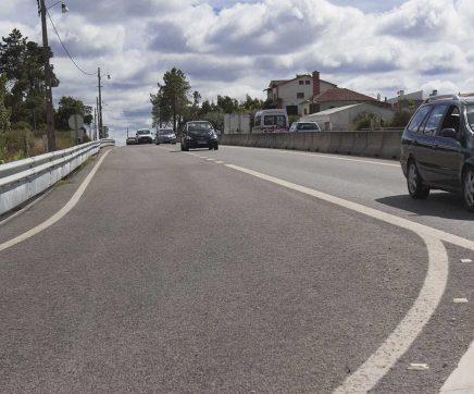 Arrancou intervenção para estabilizar talude no IC2 em Rio Maior