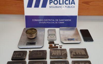 Suspeito de tráfico de droga detido com mais de 1500 doses de haxixe