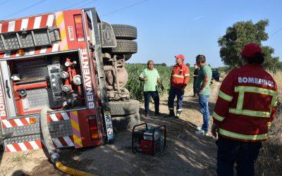 Bombeiros de Samora Correia cedem veículo autotanque aos Bombeiros de Benavente
