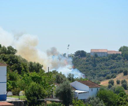 VÍDEO   Incêndio ameaça Instituto Politécnico de Santarém e mobiliza dezenas de bombeiros