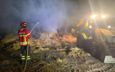 Incêndio consome armazém de Palha em Aveiras de Cima