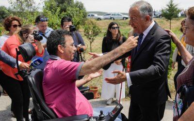 Marcelo rebelo de Sousa visita activista Eduardo Jorge