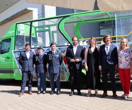 Visitantes do Complexo Aquático com autocarro gratuito para visitar centro histórico de Santarém