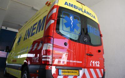Desbloqueio de verbas permite renovação de ambulâncias do INEM dos bombeiros da região