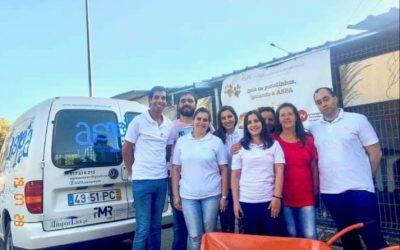 ASPA pediu e o Rotaract Club de Santarém ofereceu carrinho de mão