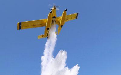 Trem de aterragem em baixo causou acidente com avião na barragem de Castelo de Bode